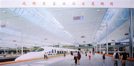 四川成绵乐铁路客运专线正式开建(组图)