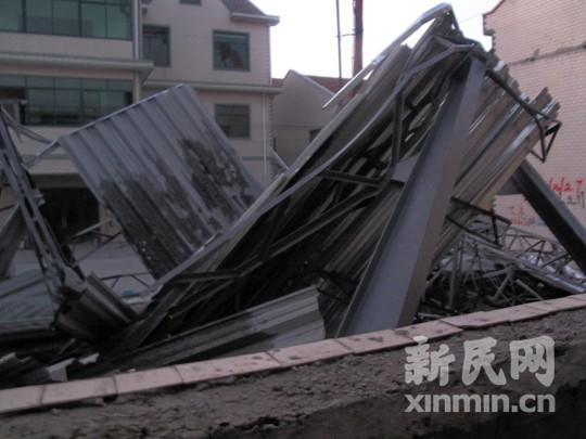 上海浦东在建厂房坍塌2死7伤(组图)