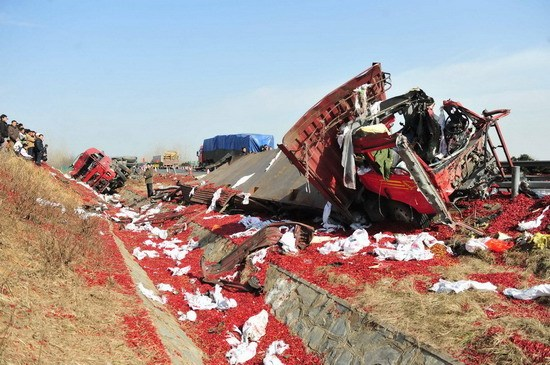 载5吨黑火药货车在京珠高速湖北孝感段爆炸