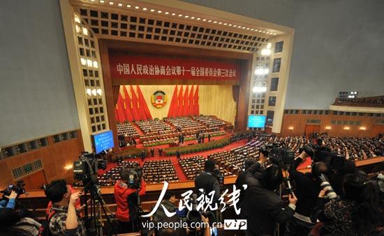 图文:全国政协十一届三次会议会场