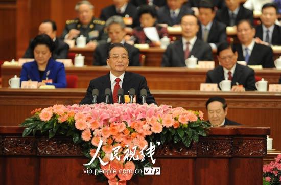 图文:温家宝总理作政府工作报告