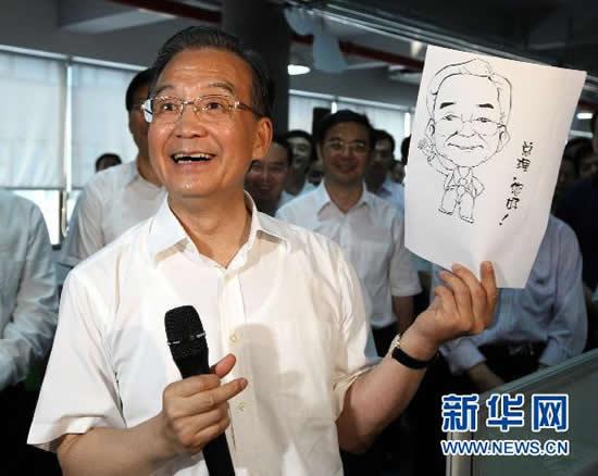温总理被画过的三幅漫画(图)