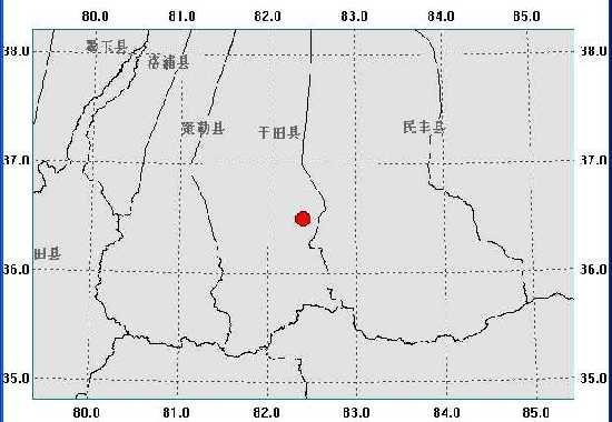 新疆和田地区于田县发生5.5级地震(图)