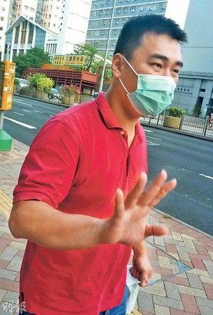 非礼女学生的男子。来源:香港《明报》
