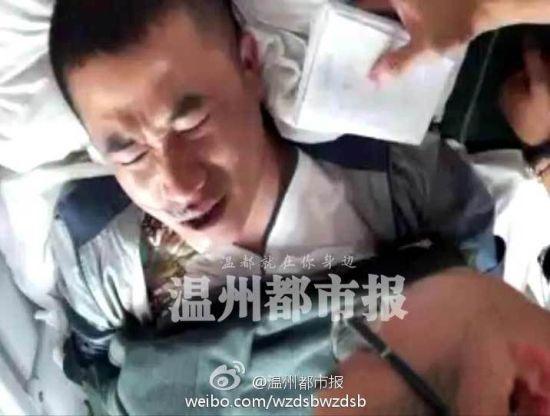 苍南城管与路人冲突事件伤者正在医院接受治疗