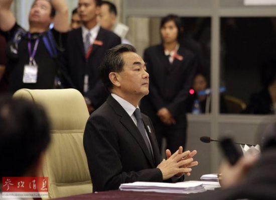 8月9日,在缅甸内比都,中国外交部长王毅出席中国-东盟(10+1)外长会。新华社发(吴昂摄)