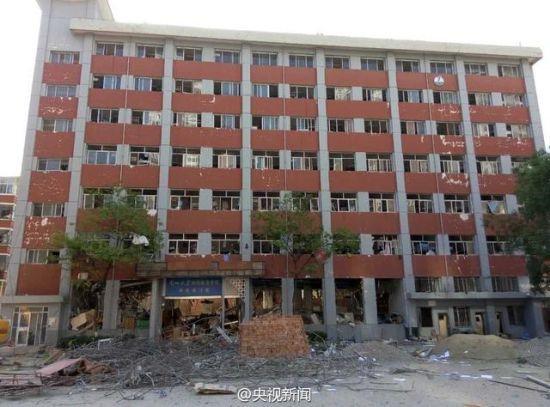 爆炸后的宿舍楼