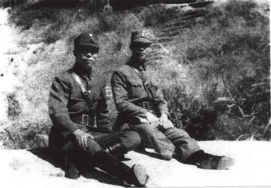 南岳会议时期的薛岳和陈诚。