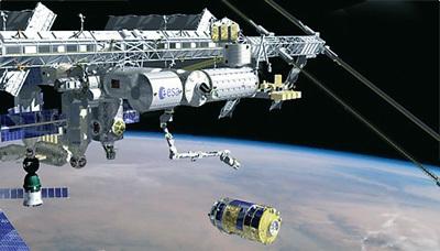 日本货运飞船――空间站转运飞行器(图右下)