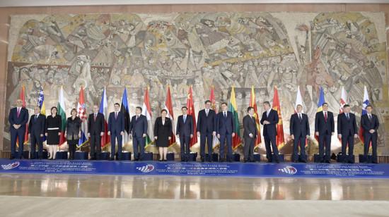 李克强出席中国席中国—中东欧国家第四届经贸论坛。中新社 刘震 摄