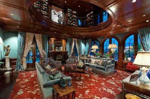 价值5180万加元的豪宅客厅(图片来源:加拿大