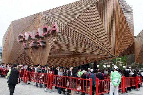 世博园加拿大馆迎来第450万名游客