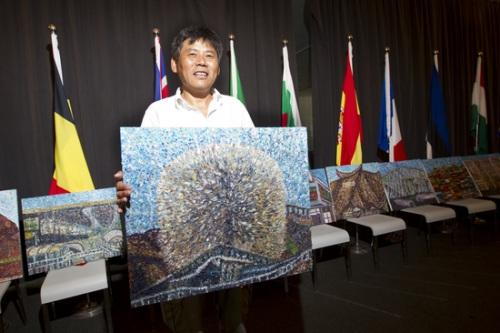 比利时-欧盟馆为上海画家办展(图)