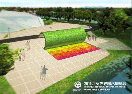 《鲜花霓裳》:用一种有趣的手法掀开草地,露出草地下五彩的鲜花,同时告诉人们这才是地球真正的霓裳。