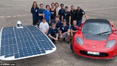 太阳能汽车研发小组的成员