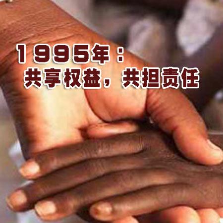 图文:1995年艾滋病日主题海报