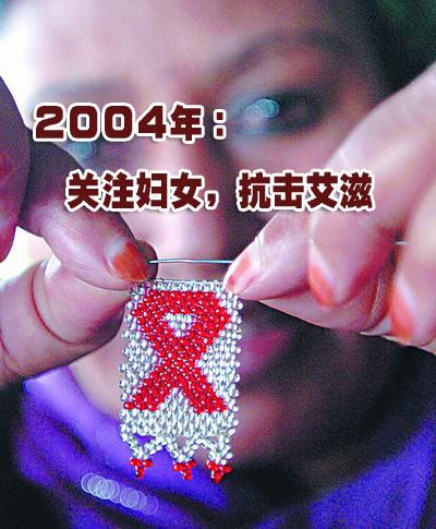 图文:2004年艾滋病日主题海报
