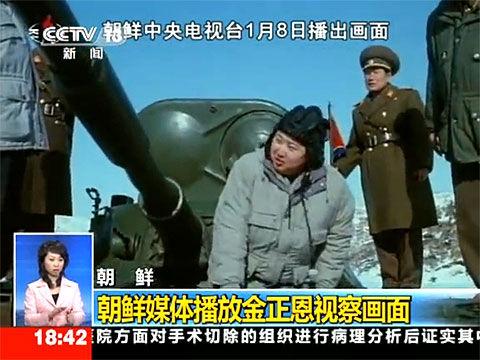 朝鲜电视台播金正恩视察