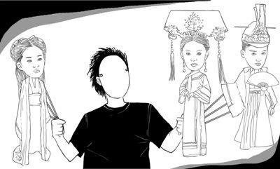 """配音演员犹如角色背后的""""影子"""",操控着人物的喜怒哀乐。 新京报插画/师春雷"""