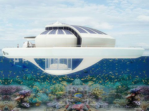 前卫环保 太阳能浮岛住宅(组图)