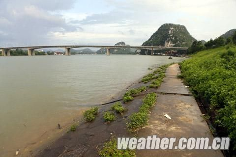 阳和大桥西侧上游柳江岸边