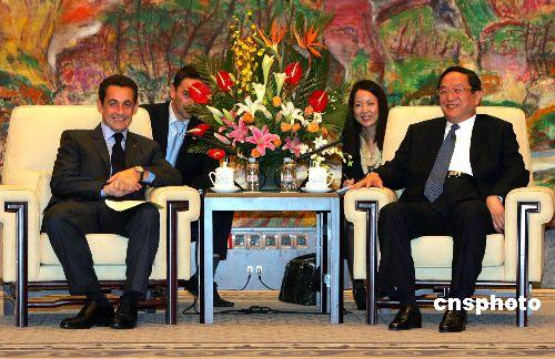 萨科齐:希望2010年亲自到上海参观世博会