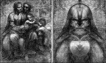 一组织宣称从镜中发现--达・芬奇作品中藏有耶和华的脸