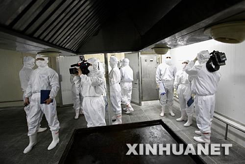 上百名中外记者考察石家庄涉日水饺事件工厂(组图)