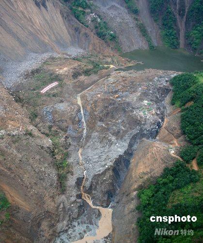 唐家山堰塞湖水位上升库容增加排险工程顺利