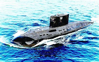 黑鲨级潜艇手绘