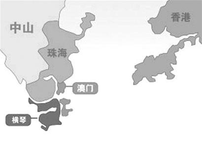 荆楚网消息 (楚天金报) 图为:澳门与横琴岛位置图