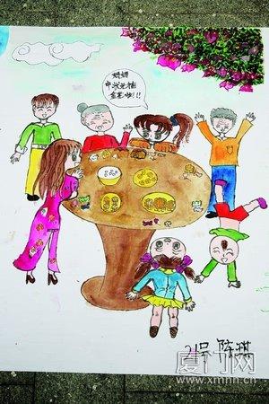 美丽厦门儿童画