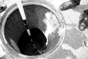 偷排泥浆来自莲花山段下水井
