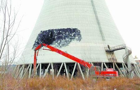 机械拆除冷却塔被叫停