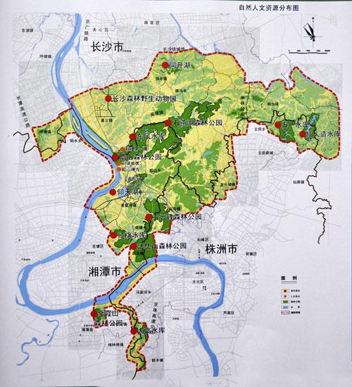 浏阳行政区划地图