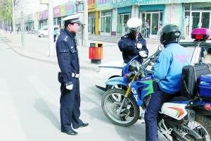 自4月28日雁滩交警大队展开摩托车专项整治以