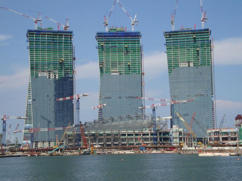 新加坡滨海湾金沙娱乐城即将完工有望成狮城新地标(组图)