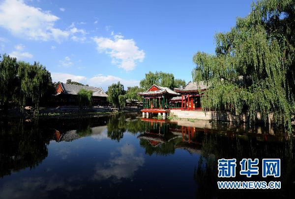 园九月份月重点-园谐趣园一角(9月10日摄).-颐和园谐趣园修缮竣工对游客开放