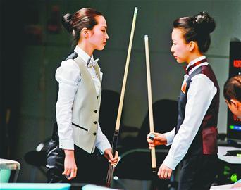 台球美女决中国两胜韩