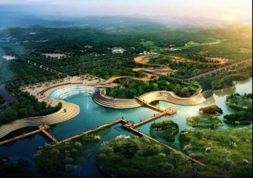 滹沱河3号水面北岸将建滹沱之舞 月底将开建