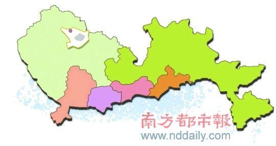 深圳宝安区行政地图