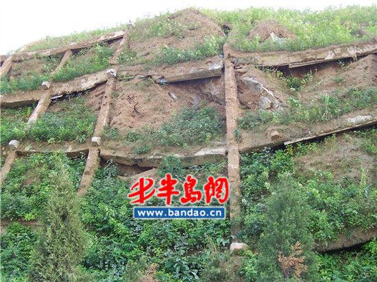 市民韩先生爆料隧道薛家岛出口处山体支架存在安全隐患