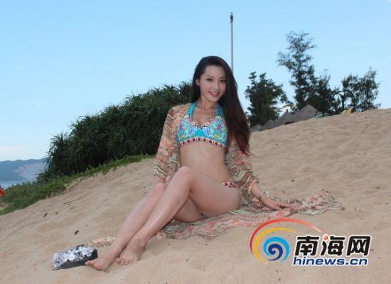 美空超级美女榜18选手三亚沙滩大秀曼妙身姿