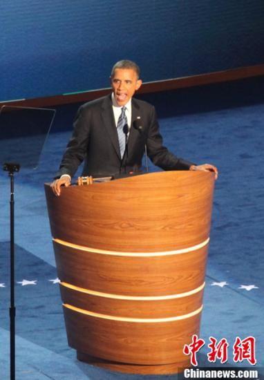 民调显示奥巴马支持率领先罗姆尼优势缩小至5%