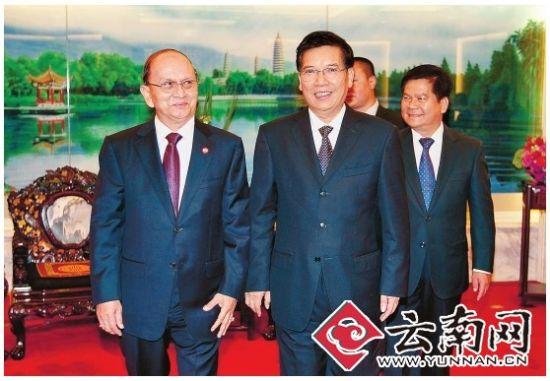 秦光荣李纪恒会见缅甸总统吴登盛