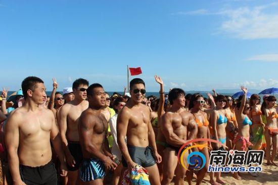 千人比基尼派对三亚海棠湾举行