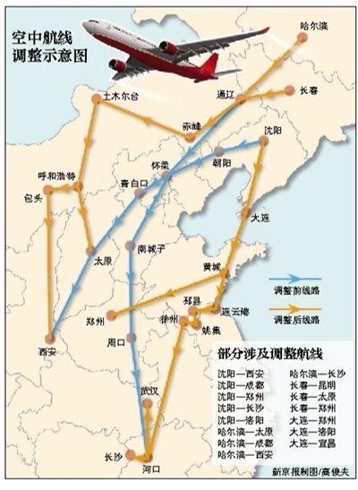 每天60航班绕开北京