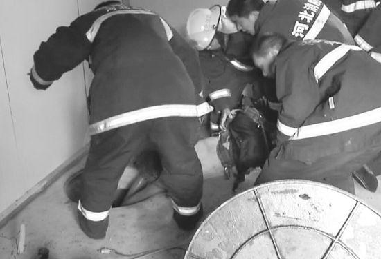 井下施工气体中毒6人被困