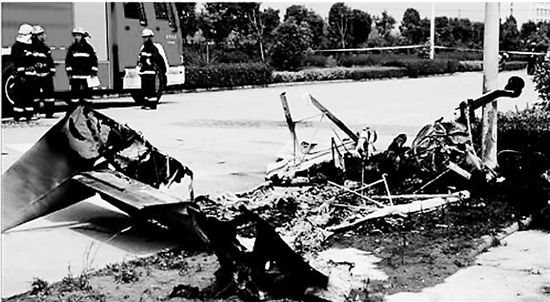 安徽淮北一小型飞机坠毁