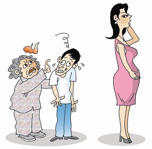 妈妈大肚子的画全家人三个人_大肚子还穿高跟鞋?婆婆有意见,丈夫不好管全家人闹起了冷战